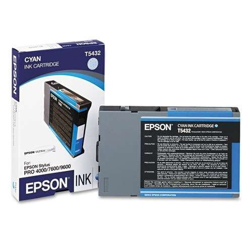EPSON T543200 Cyan UltraChrome Ink Cartridge for Pro 4000, 7600 and 9600, 110ml - We Love tec