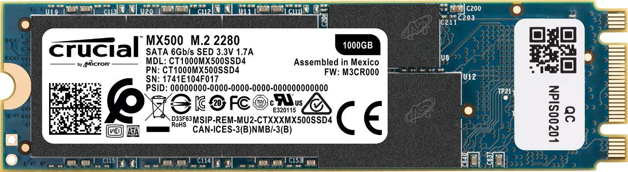 Crucial MX500 1000GB M.2 Type 2280 Internal SSD - We Love tec