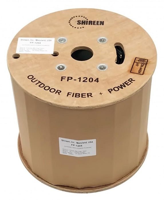 Shireen FP-1204 Fiber & Power Triamese Cable, 1000ft Spool