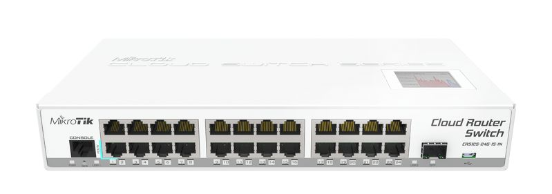 MikroTik CRS125-24G-1SIN Cloud Router Switch 600MHz 24xGb SFP - We Love tec