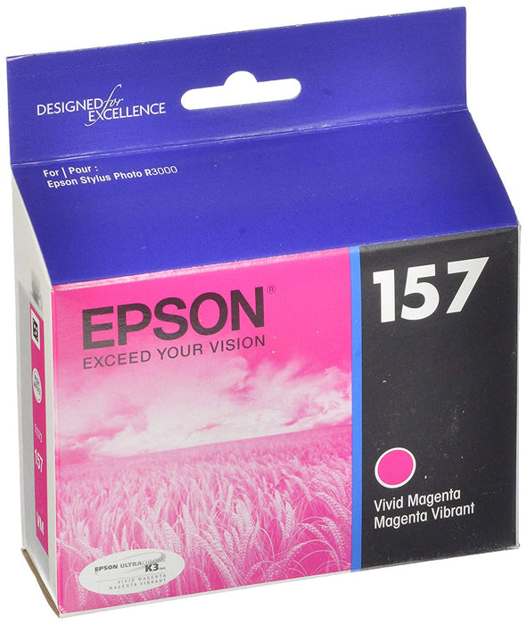 EPSON T157320 Vivid Magenta UltraChrome K3 157 Inkjet Cartridge - We Love tec