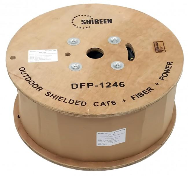 Shireen DFP-1246 Data, Fiber & Power Composite Cable, 500ft Spool
