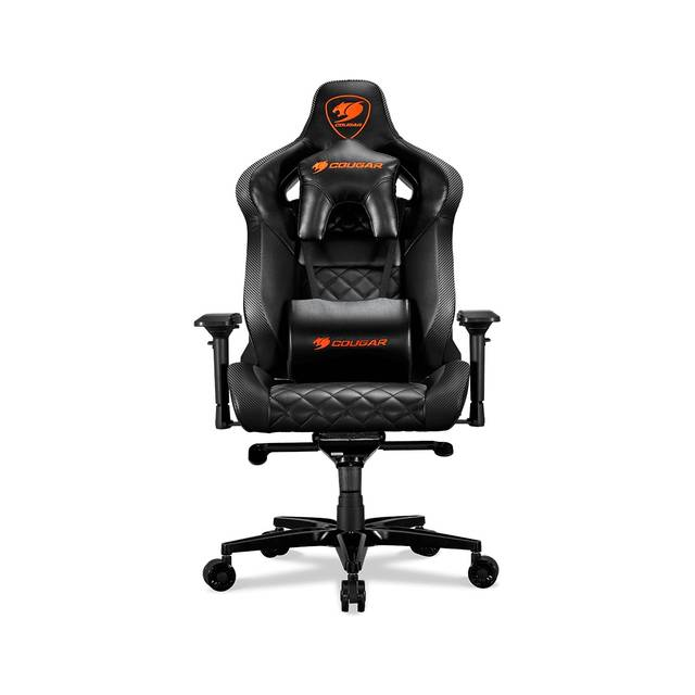 Cougar Armor Titan (Black) ultimate gaming chair with premium breathable pvc leather, 160kg support, 170 degree reclining - We Love tec