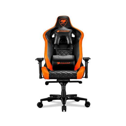 Cougar Armor Titan (Orange) ultimate gaming chair with premium breathable pvc leather, 160kg support, 170 degree reclining - We Love tec