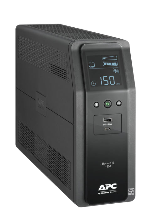 APC BR1500M2-LM Back UPS PRO BR 1500VA,10 Outlets, 2 USB Charging Ports, AVR, LCD interface, LAM - We Love tec