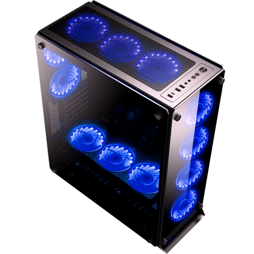 Redragon GC-801 IRONHIDE Case (6x12cm RGB turbo + IR controller) - We Love tec
