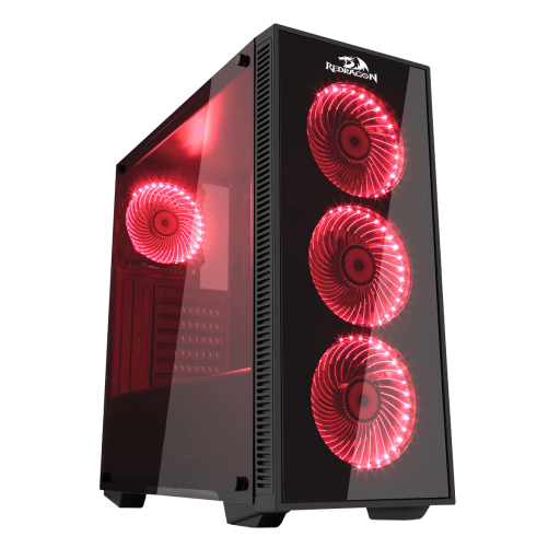 Redragon GC-601 SIDESWIPE Case (4x12cm RGB + hub 4in1) - We Love tec