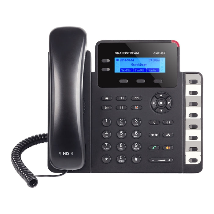 Grandstream GXP1628 IP Phone, VoIP Phone with PoE for Small Business, 2 Lines - We Love tec