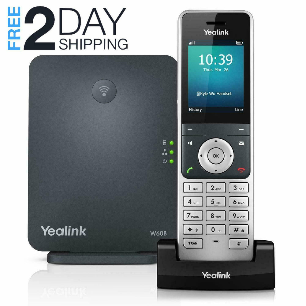 Yealink W60P Wireless DECT VoIP Phone and Base Station Device - Free 2Day Shipping