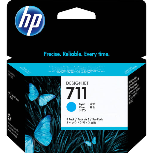 HP 711 Cyan Ink Cartridges 29-ml 3-Pack (CZ134A) - We Love tec