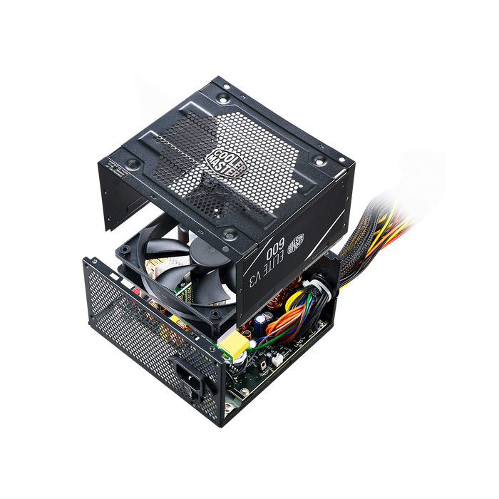 Cooler Master (PS_MPW-6001-ACAAN1-WO) 600W ELITE V3 Full Range, No Cable - We Love tec