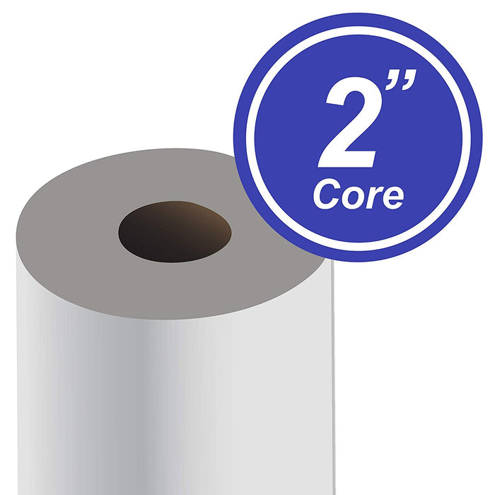"Paper Rolls, 24"" x 150', 92 Bright, 20lb - 4 Rolls Per Carton - Ink Jet Bond Rolls with 2"" Core - We Love tec"