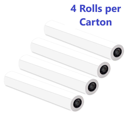 "Paper Rolls, 36"" x 150', 92 Bright, 20lb - 4 Rolls Per Carton - Ink Jet Bond Rolls with 2"" Core - We Love tec"