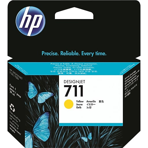 HP 711 Yellow Ink Cartridge 29-ml (CZ132A) - We Love tec