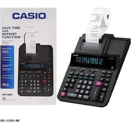 Casio DR-120R Full-Sized Printing Calculator, Black - Free Shipping - We Love tec