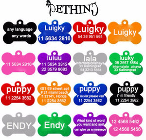 Custom Bone ID Tag - Dogs&CatsShop