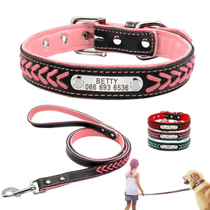 Personalized Leather Dog Leash - Dogs&CatsShop