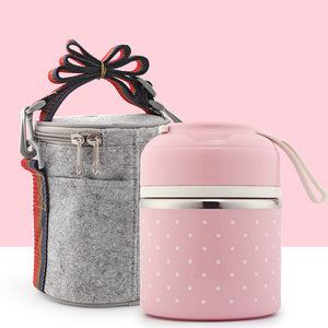 Japanese Lunch Boxs Thermal Insulation Food Containers Stainless Steel Metal - sweet-casa.com
