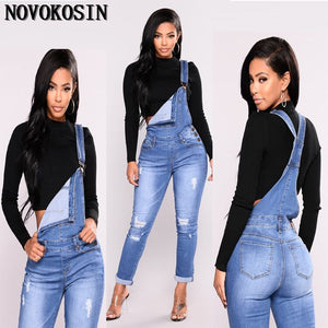 Casual Women Regular Bleach Ripped Jeans Pant Slim Stretch Cotton Denim Trousers - sweet-casa.com