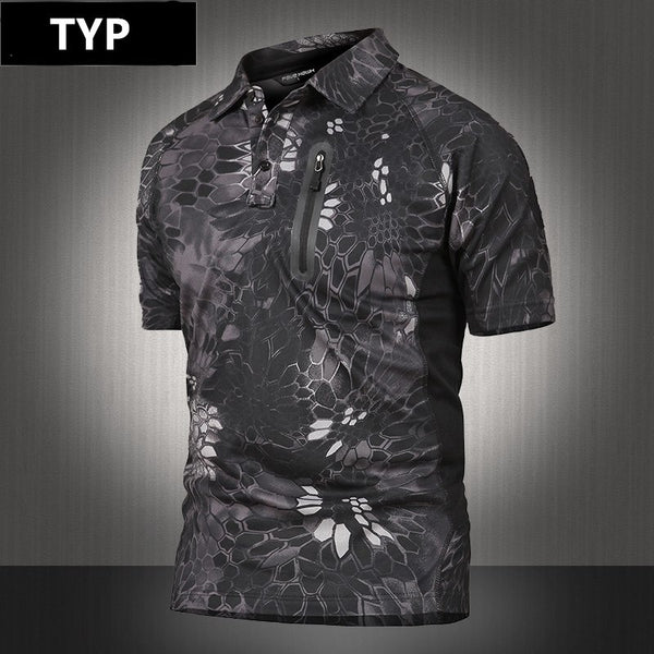 6d6bba4e9ca9 ... MEGE Summer Coolmax Breathable Fabric Polo For Men