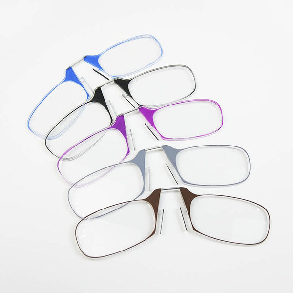 Mini Keychain Reading Glasses Women Nose Clip On Thin Foldable Folding Diopter Glasses Men 1.5 2 Optics Eyeglasses Male Portable - sweet-casa.com