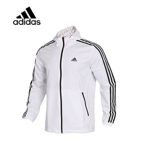 662ebc507179 Original Adidas WB MESH BOND 3S Men s Running Jacket New Arrival Authentic Sportswear  Male Coat Windbreaker