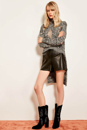 Trendyol Black Asymmetric Knitted Sweater TCLAW19OS0066 - sweet-casa.com