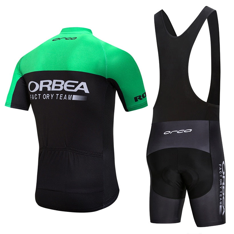 UCI team 2018 Green ORBEA cycling jersey 9D Bike shorts suit MTB mens  summer ropa ciclismo 6f1fbb7ea
