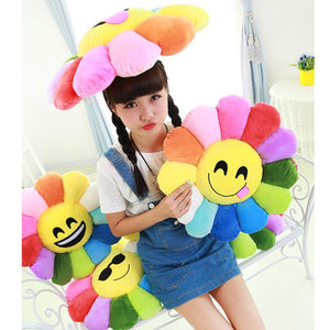 Super Deal Promotion 2015 Hot Sale Sunflowers Soft Emoji Smiley Emoticon Stuffed Plush Toy Doll Cushion Emoji Pillow Gift 17&06 - sweet-casa.com