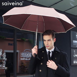 SAIVEINA Fully-automatic men business folding umbrella three fold Adults Children Umbrellas Sunny Rain for Men Women umbrella - sweet-casa.com