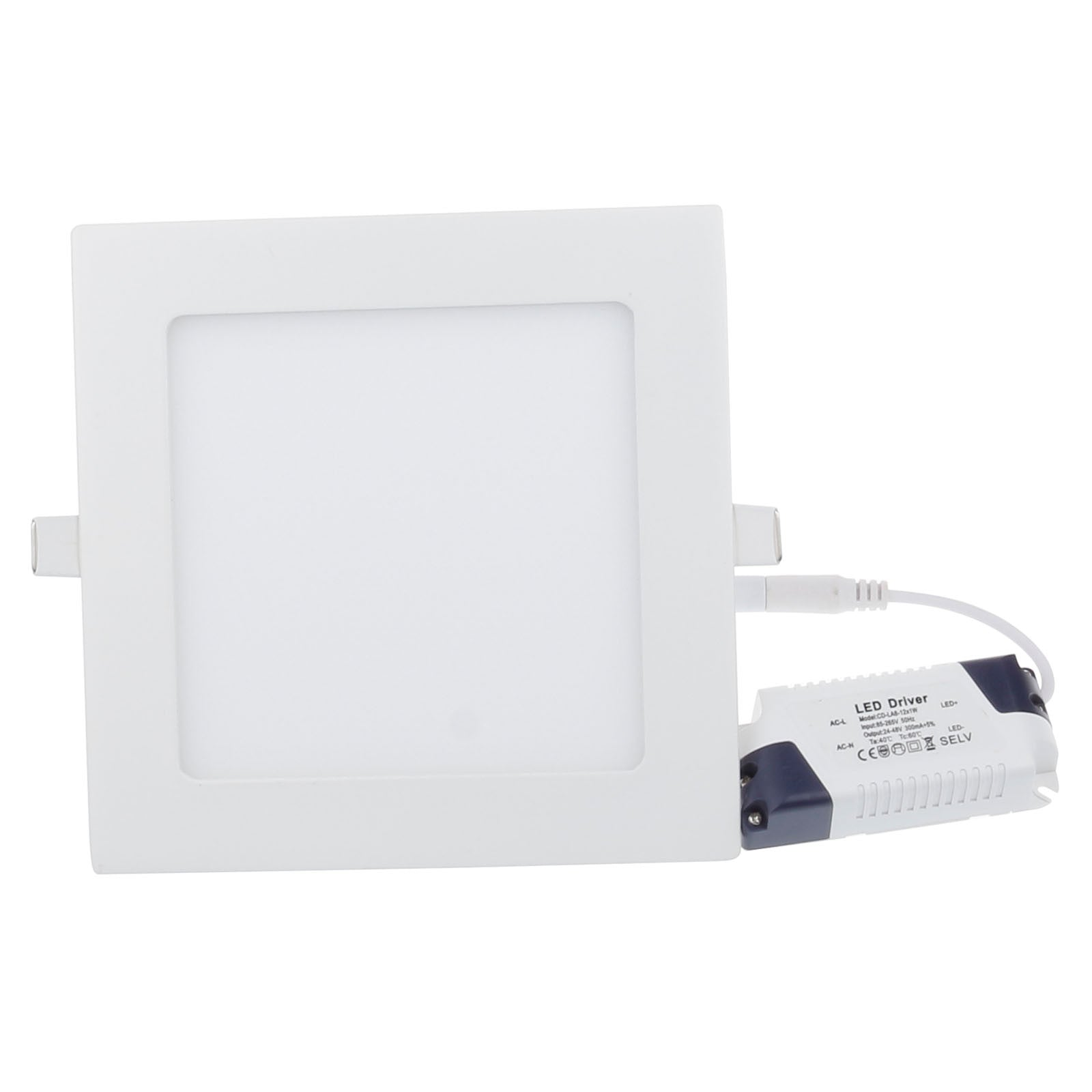 12W Recessed Square Shape LED Panel Light Dimmable Cool White Lamp Downlight AC 85-265V - sweet-casa.com