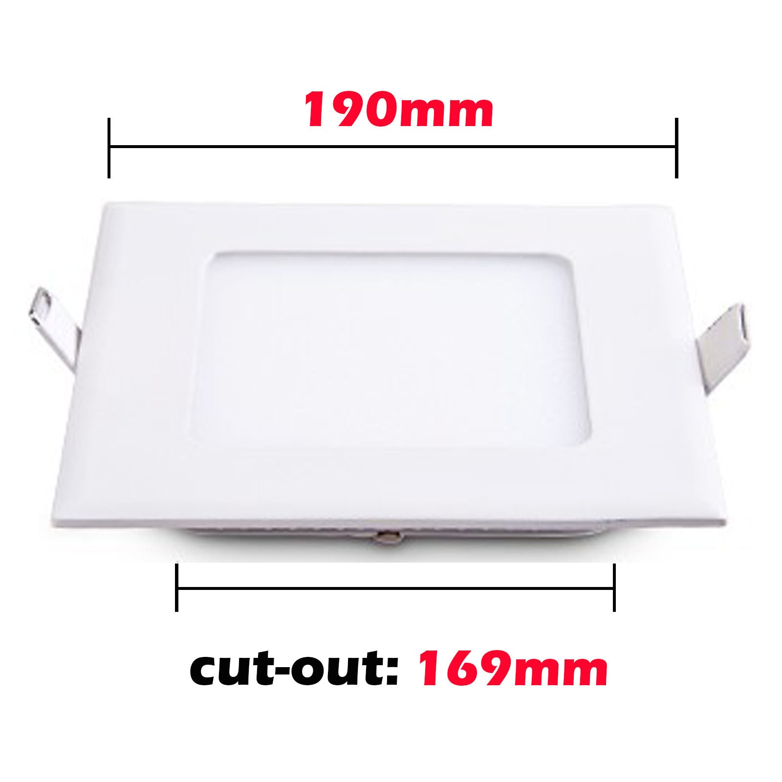 15W Recessed Square Shape LED Panel Light Cool White Lamp Downlight AC 85-265V - sweet-casa.com