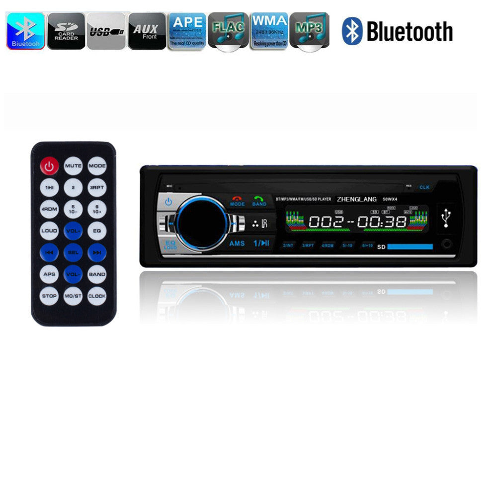 12V Bluetooth Car Stereo FM Radio MP3 Audio Player Charger USB/SD/AUX Car Electronics Subwoofer In-Dash 1 DIN Aux Input Receiver - sweet-casa.com