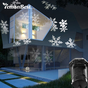 10 Patterns 6W LED Projector Light RGB Snowflake Navidad Decoration Christmas Lights Outdoor New Year Halloween Party Lamp IP44 - sweet-casa.com
