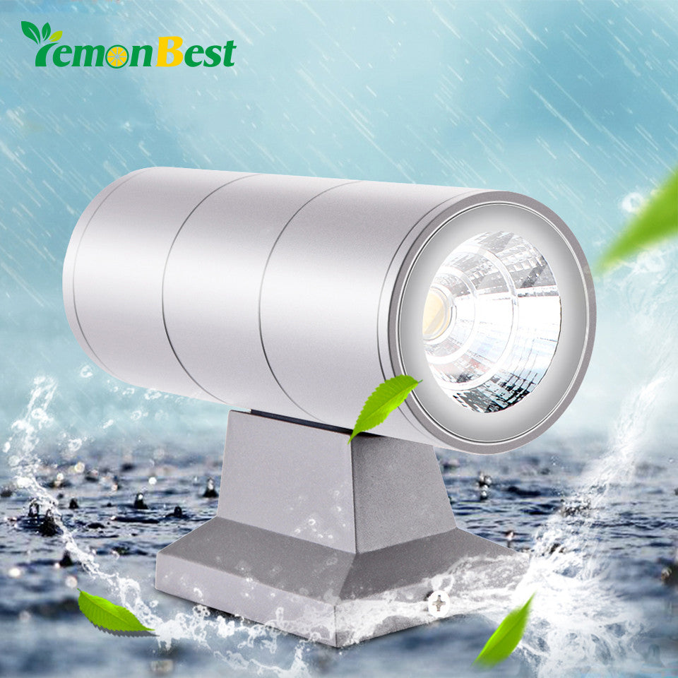 10W IP65 Waterproof Modern Wall Lamp Up Down Dual-Head Cylinder COB LED Porch Lights for Garden Outdoor Lighting AC 85-265V - sweet-casa.com