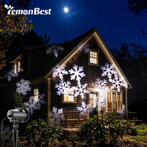 12 Types 8W LED Snowflake Effect Lights Outdoor Christmas Light Projector Garden Xmas Tree Decoration Landscape Lighting - sweet-casa.com