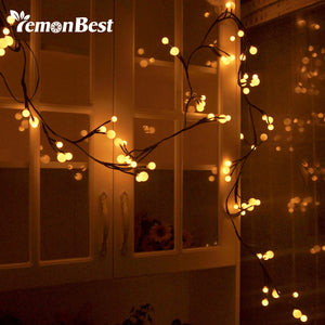 2.5m Flexible 72-LED String Lights Bendable Warm White Globe Lamp with 8 Modes Memory Waterproof Christmas Wedding Decoration - sweet-casa.com