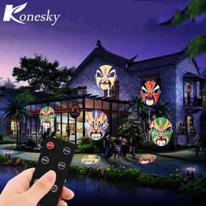12W Remote Control LED Projector Stage Light with 20pcs Colorful Gobo for Xmas Birthday Christmas Halloween Party Holiday Decor - sweet-casa.com
