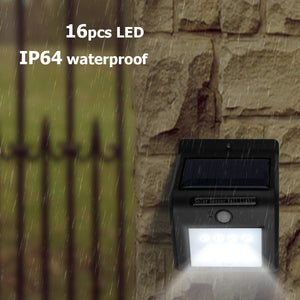 16-LED Solar Powered Lamp with Motion Sensor Bright Light Waterproof for Outdoor Wall-hung Garden Security Use - sweet-casa.com