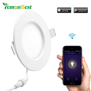 16W LED Panel Light Wireless WiFi Controller LED Recessed Lighting Fixture Dimmable with Smart Life for Alexa Android for IOS - sweet-casa.com