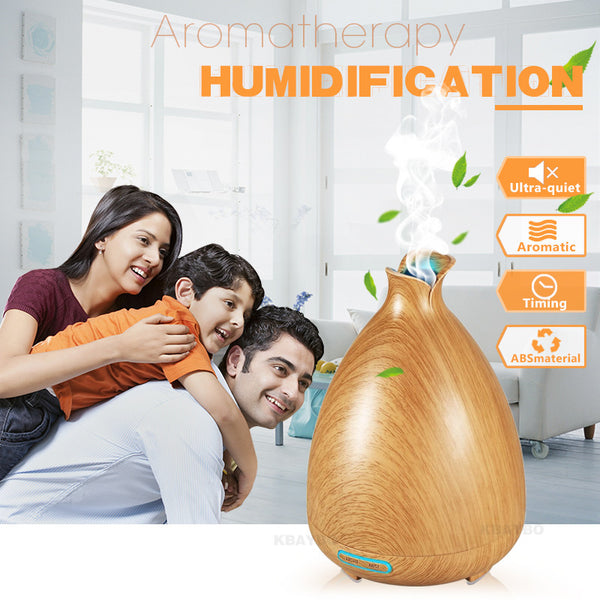 130ml Air Humidifier Essential Oil Diffuser Aroma Lamp Aromatherapy Electric Aroma Diffuser Mist Maker for Home-Wood - sweet-casa.com