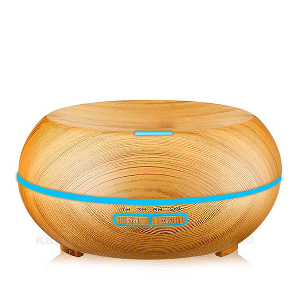 200ml Air Humidifier Oil DiffusersWood Grain Ultrasonic Humidifier for Office Home Bedroom Living Room - sweet-casa.com