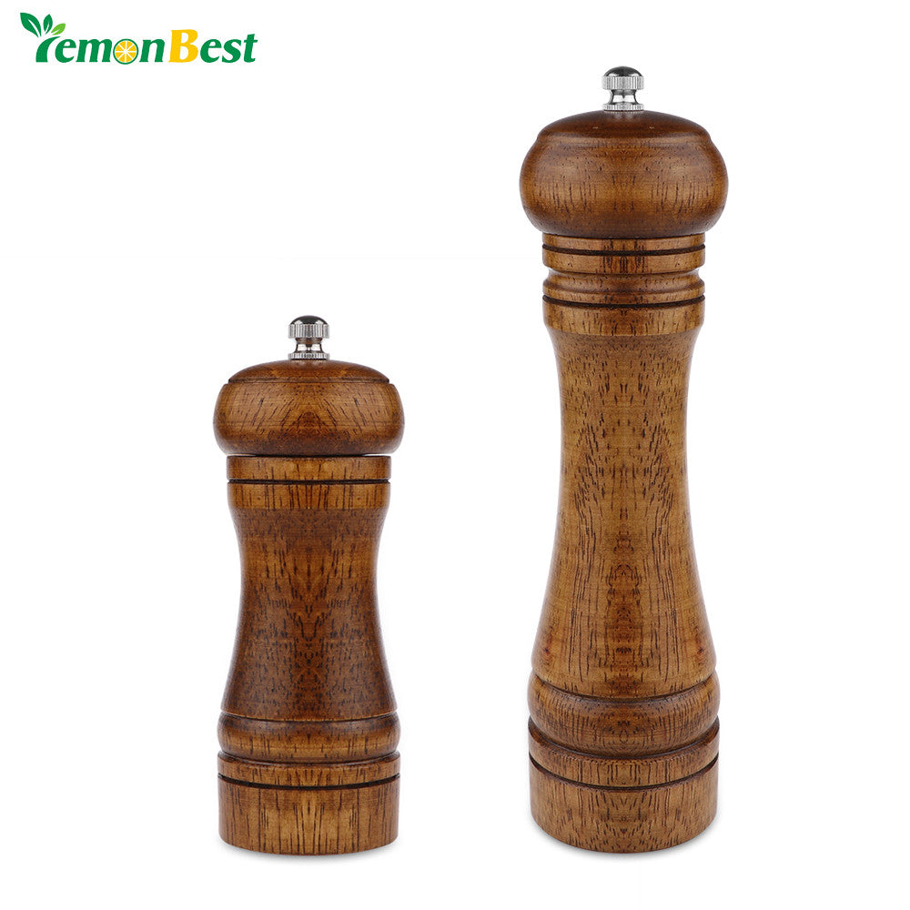 5/8 Inch Salt And Pepper Grinder Hand Movement Oak Wood Pepper Mill With Ceramic Grinding Cord Kitchen cooking Tools - sweet-casa.com