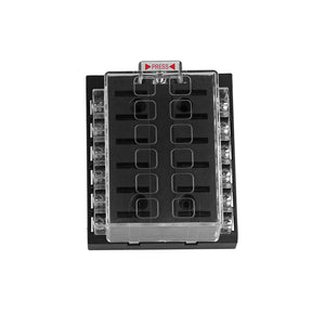12/24V Universal Car Truck Vehicle 12-Way Circuit Middle-sized Blade Automotive Fuse Box Block Holder ATC ATO - sweet-casa.com