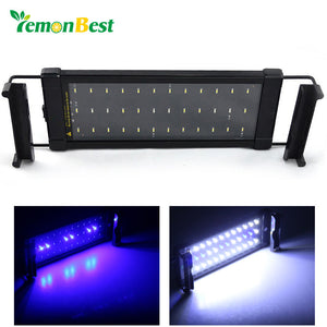 LemonBest 6W Aquarium Fish Tank Smd Led Light Lamp 2 Mode 30 White + 6 Blue Marine Aquarium Led Lighting Aquario - sweet-casa.com