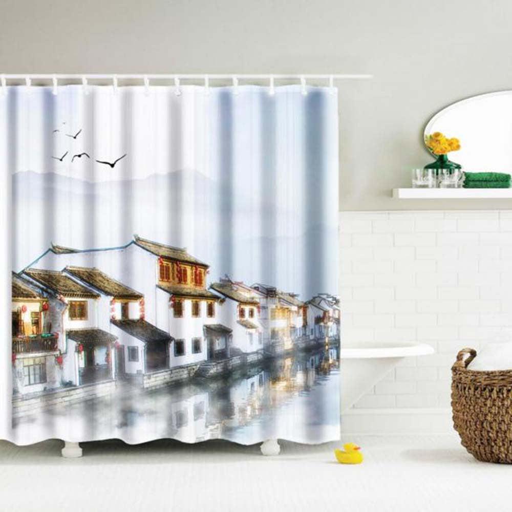 Digital Print Waterproof And Mildewproof Shower Curtain - sweet-casa.com
