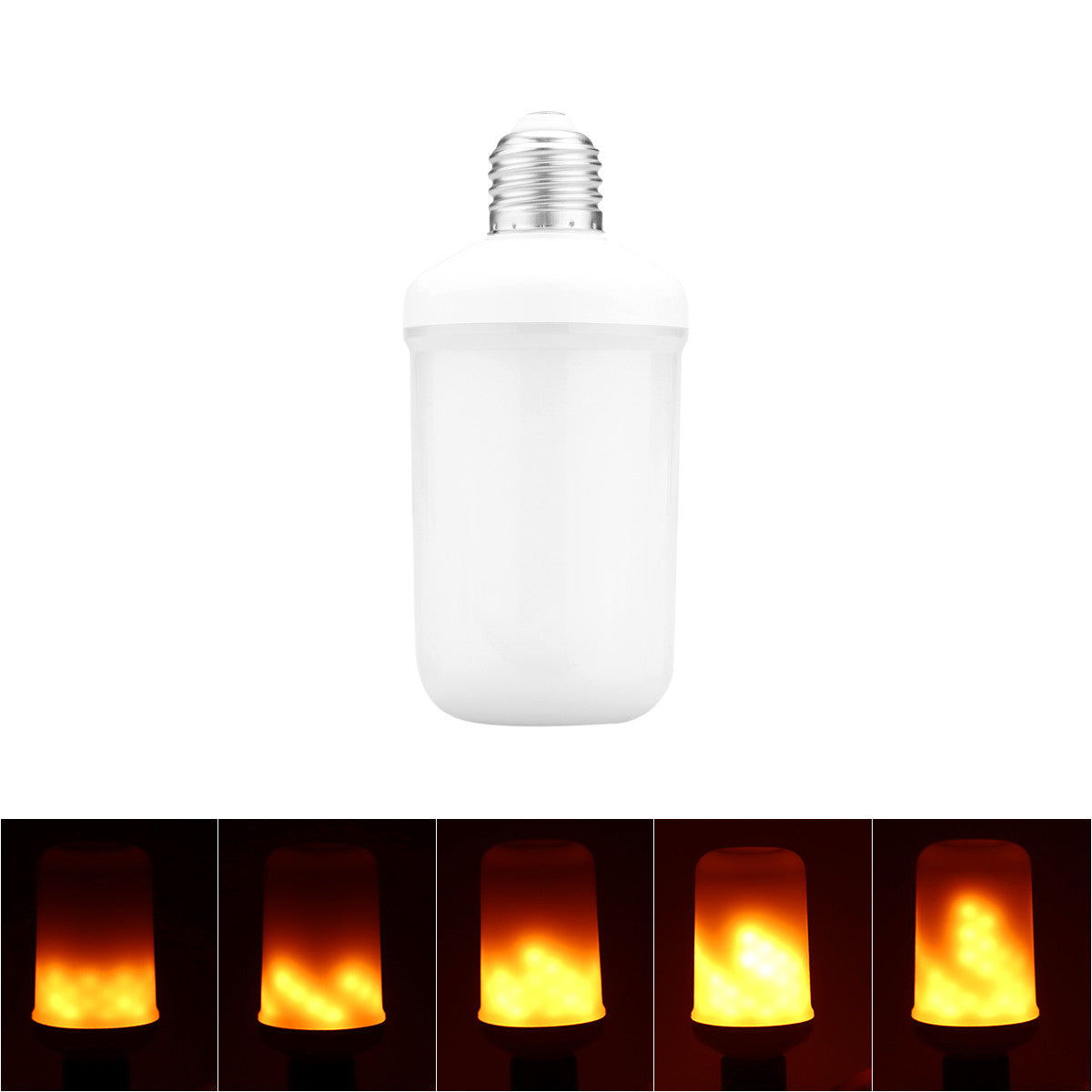 E27 99SMD 3528SMD 5W LED Flame Effect Fire Light Bulbs Dynamic Moving Flame Flickering Emulation Decorative Lamps Dancing Flickering Flame - sweet-casa.com