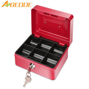 ABEDOE Metal Money Coin Box Cash Safe Box Piggy Bank with Lock Money storage Box for Children Toys Gift Home Decoration - sweet-casa.com