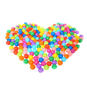 100PCS Kids Ball Colorful Fun Soft Plastic Ball Pit Balls for Babies Kids Children Birthday Parties Events Playground Games Pool Tent Ocean Swim Toys Ball Packing in Mess Bag, 5.5CM - sweet-casa.com