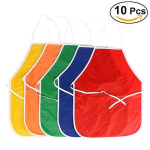 10PCS Artists Fabric Aprons for Children Crafts Art Painting Activity - sweet-casa.com